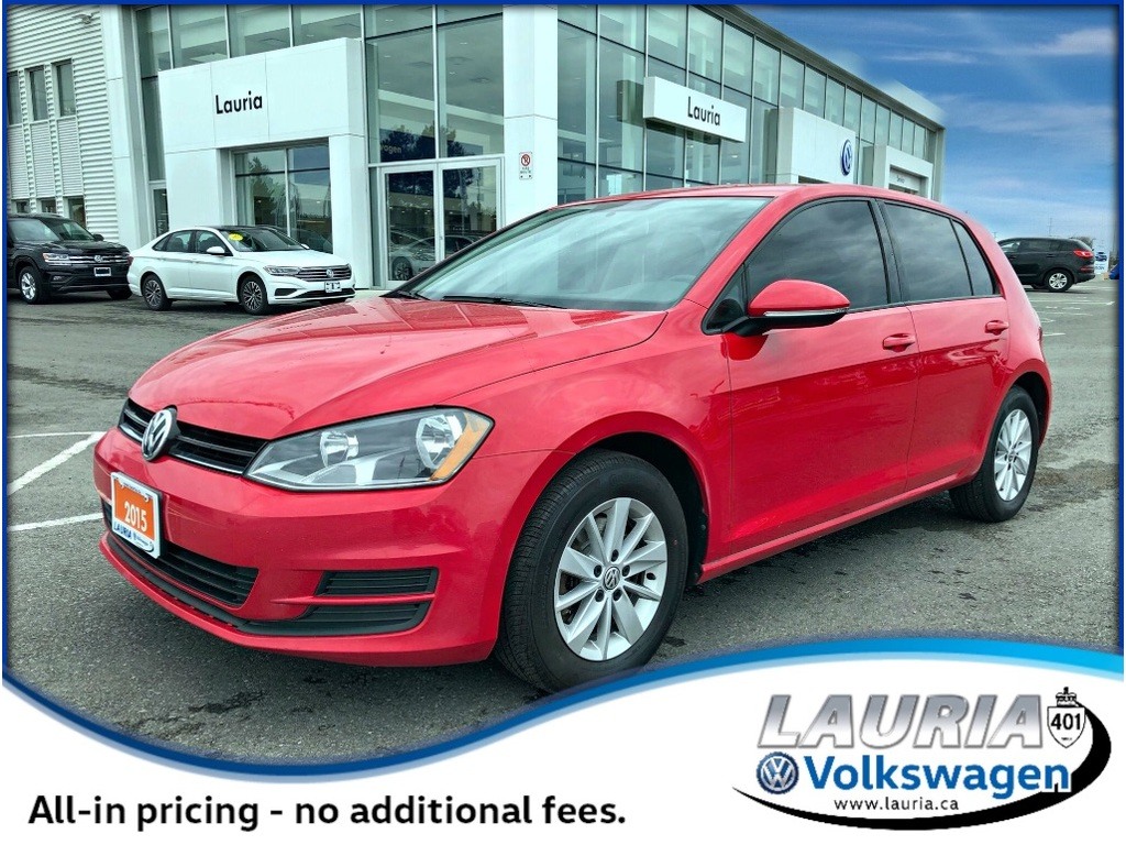 Certified Pre-Owned 2015 Volkswagen Golf 1.8 TSI Trendline Manual -Heated seats - Bluetooth
