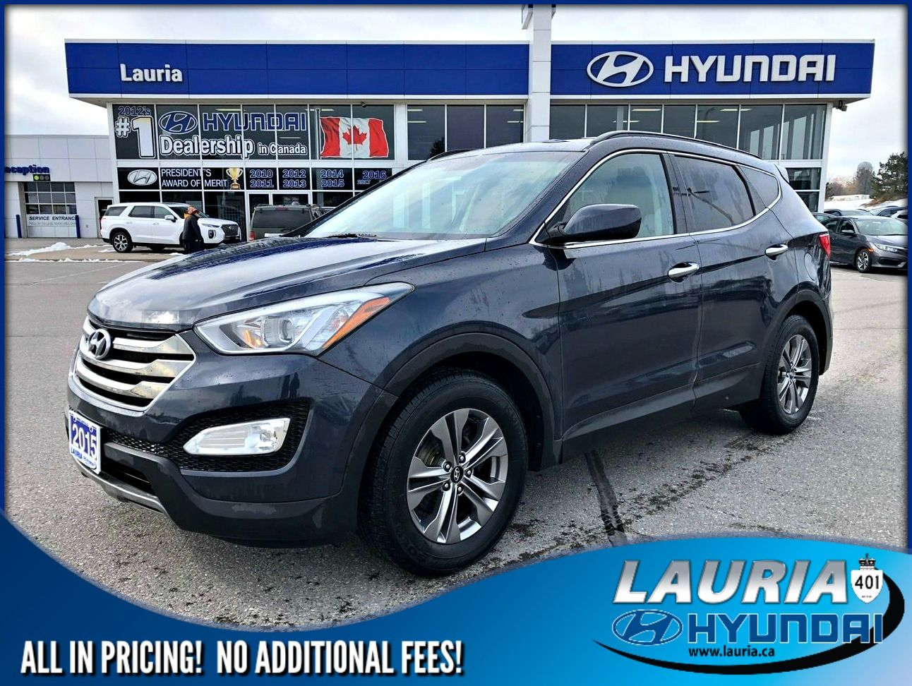 Certified Pre-Owned 2015 Hyundai Santa Fe Sport 2.4L FWD Auto - 1 owner