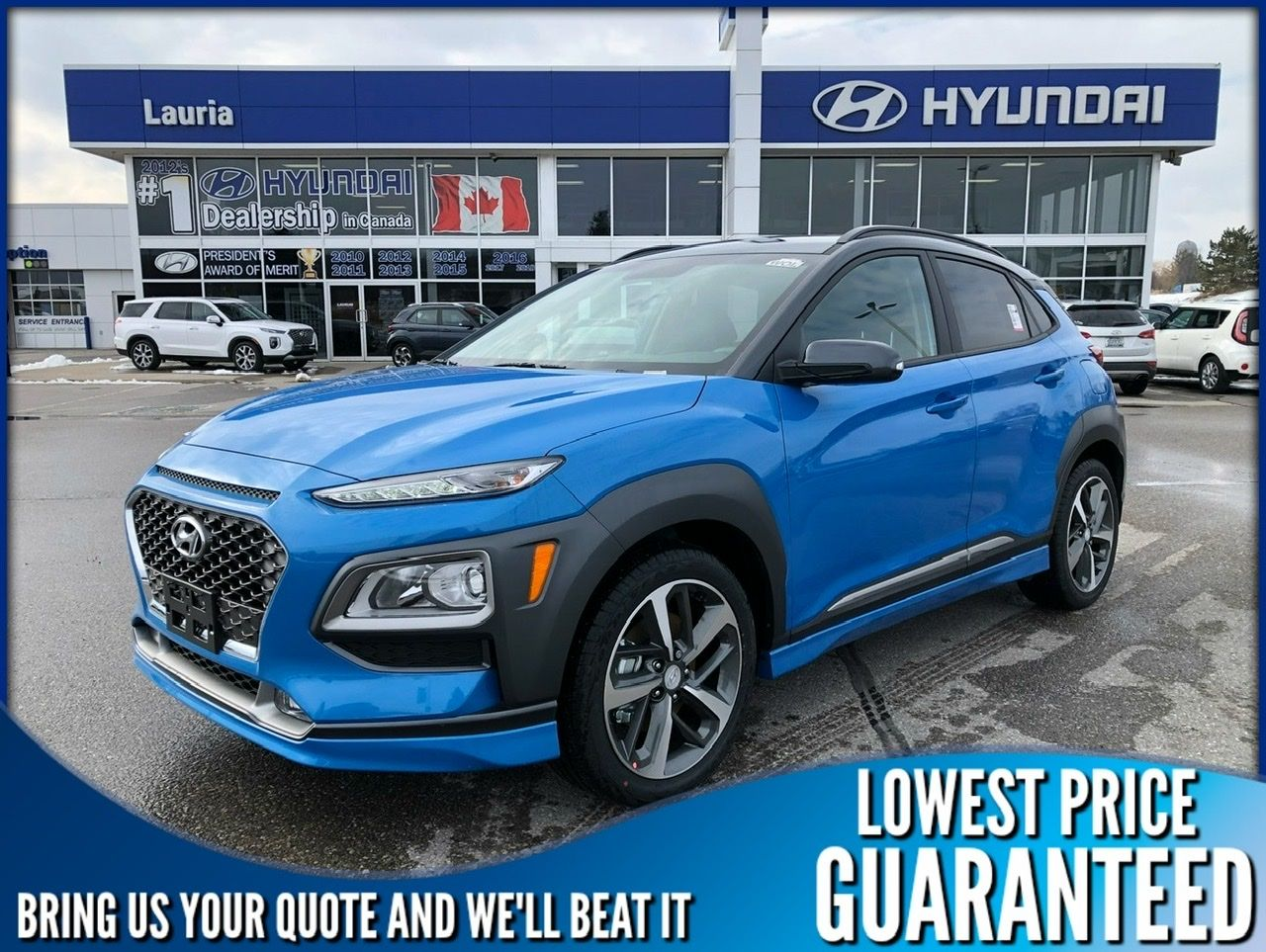 New 2020 Hyundai Kona 1.6T AWD Trend Two-Tone Roof