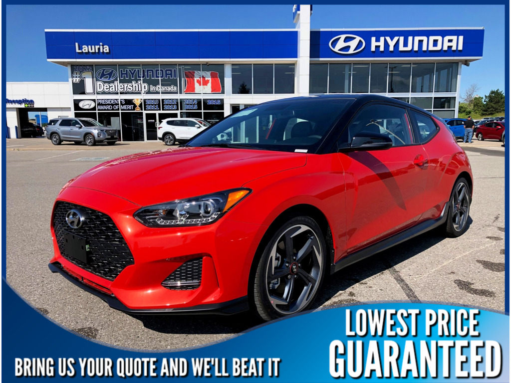 New 2020 Hyundai Veloster Turbo Manual Two-tone Roof